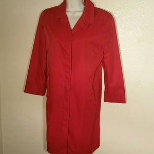 Anne Klein Red All Weather Coat. 10P